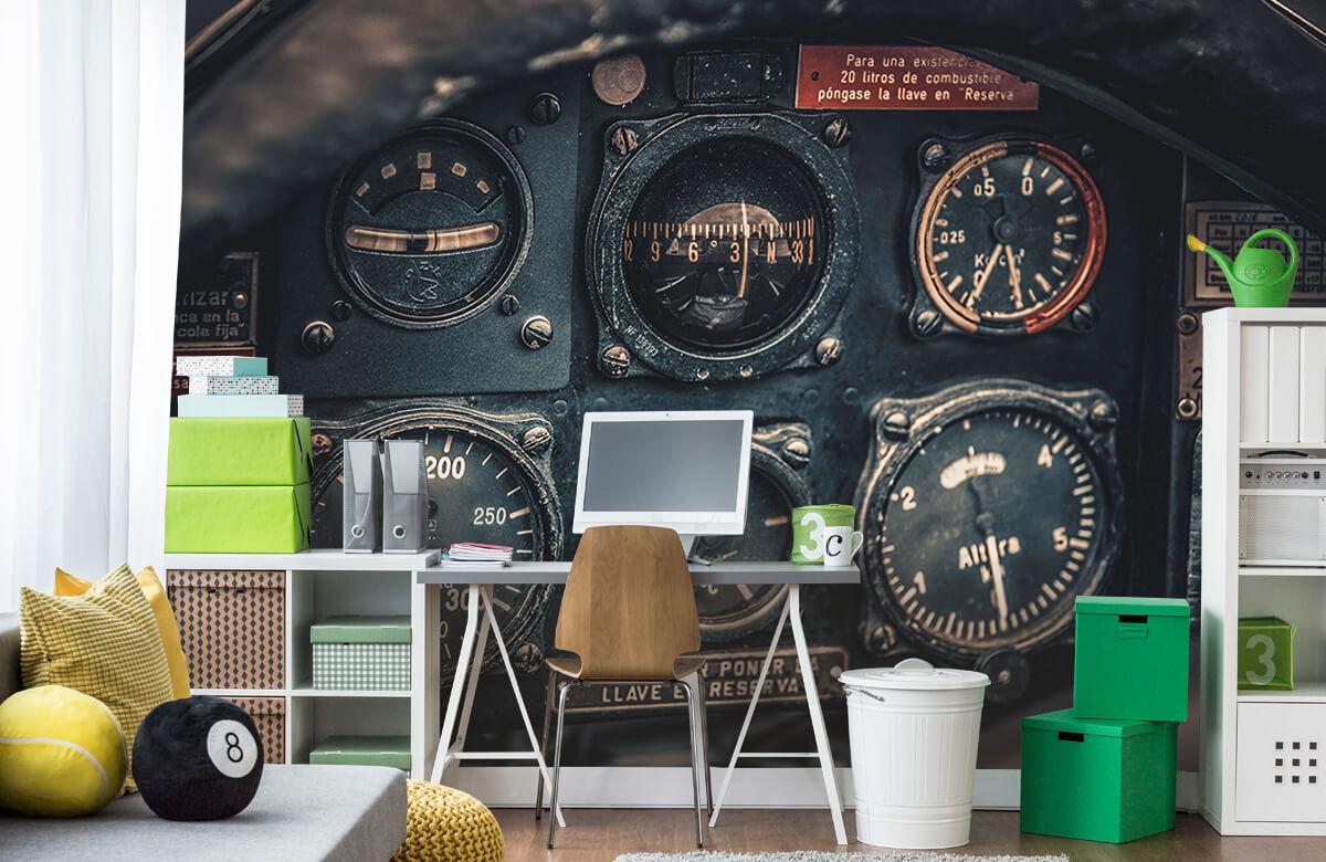 Transport Vintage vliegtuigcockpit detail 9