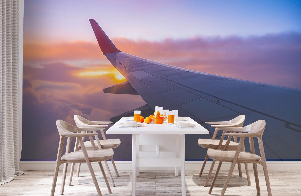 Transport Vliegtuigvleugel in de wolken 2