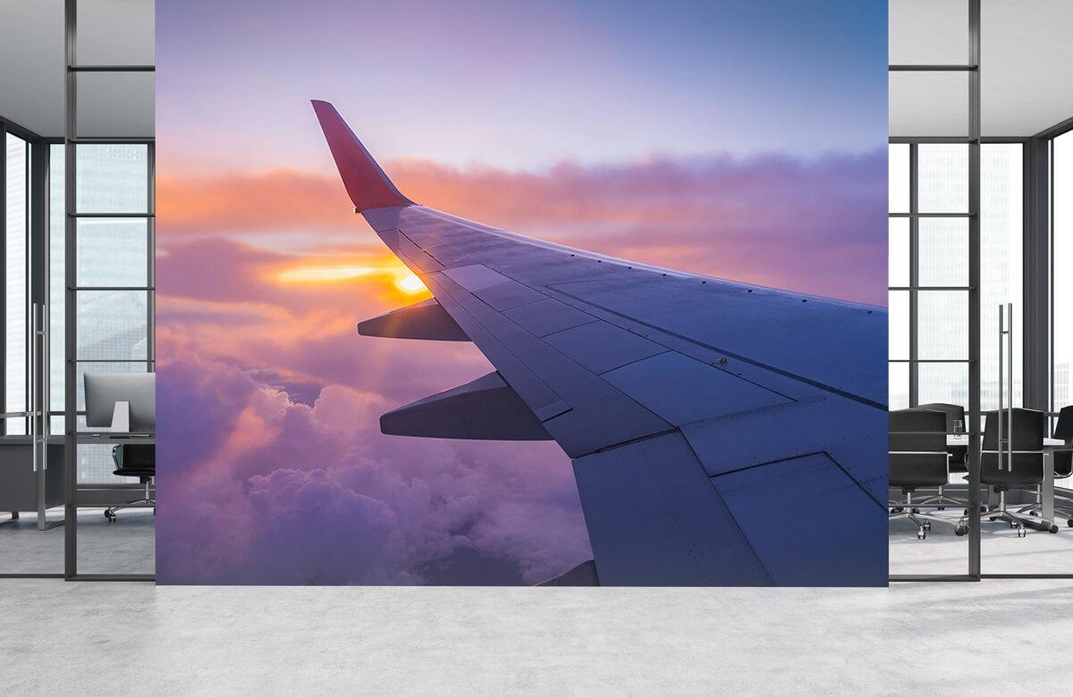 Transport Vliegtuigvleugel in de wolken 1