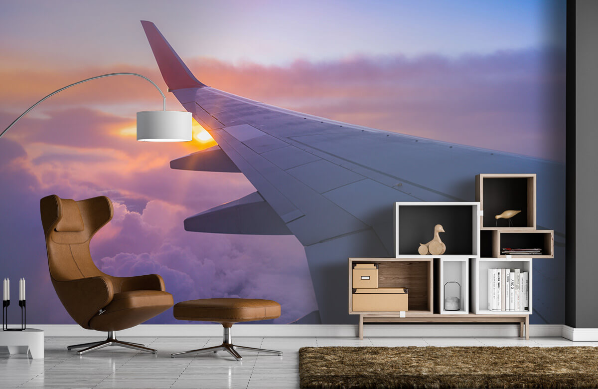 Transport Vliegtuigvleugel in de wolken 4
