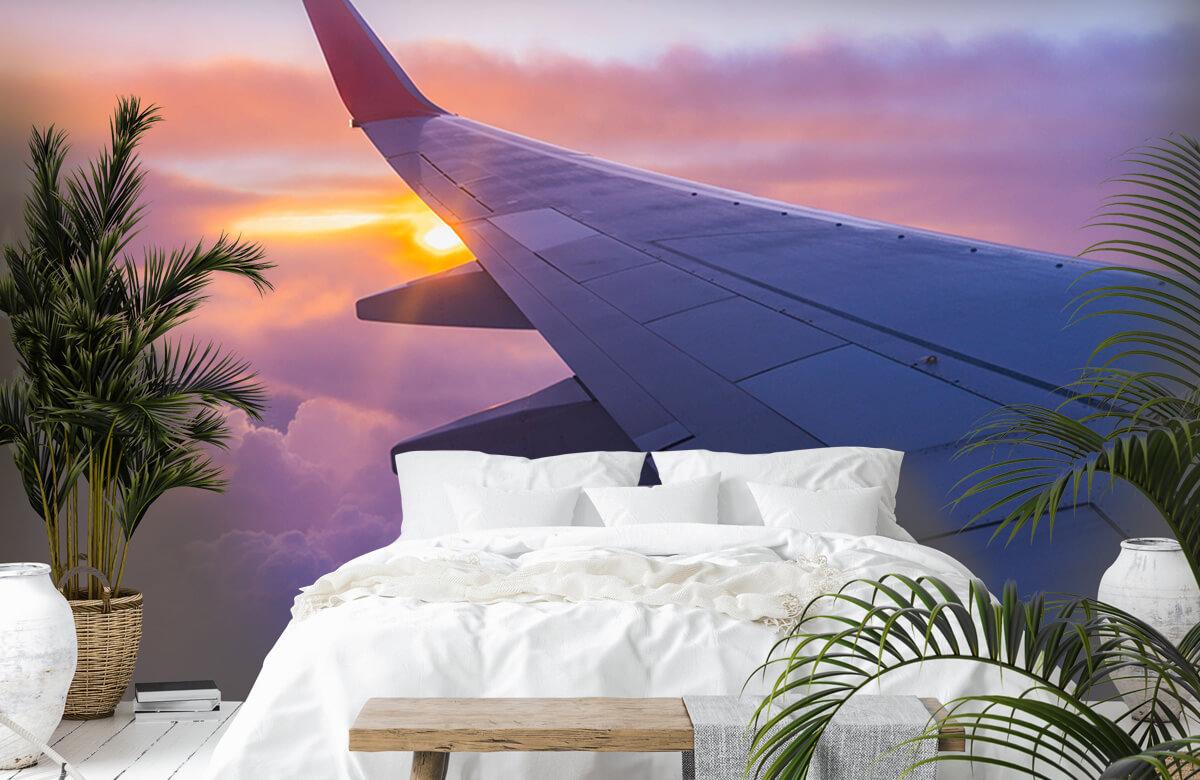 Transport Vliegtuigvleugel in de wolken 6