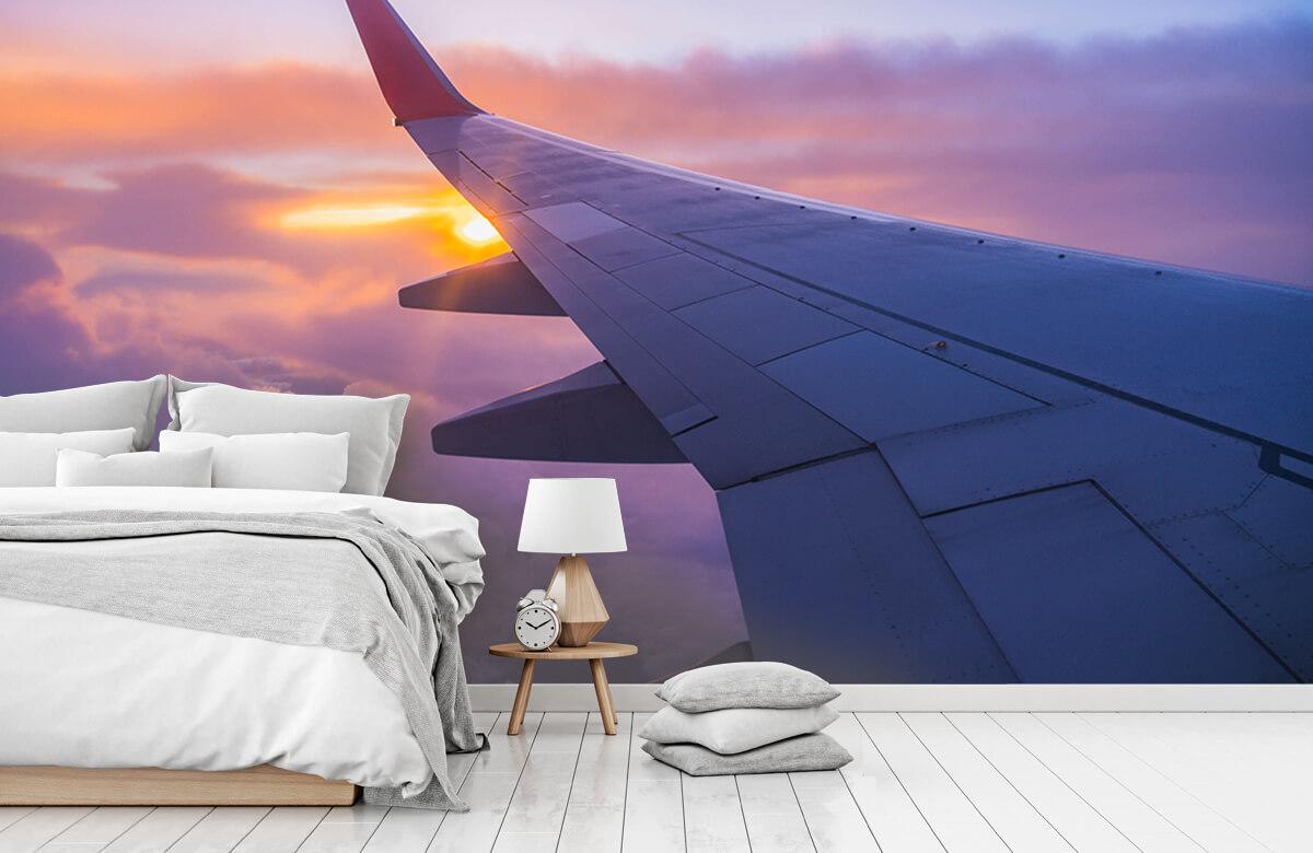 Transport Vliegtuigvleugel in de wolken 7