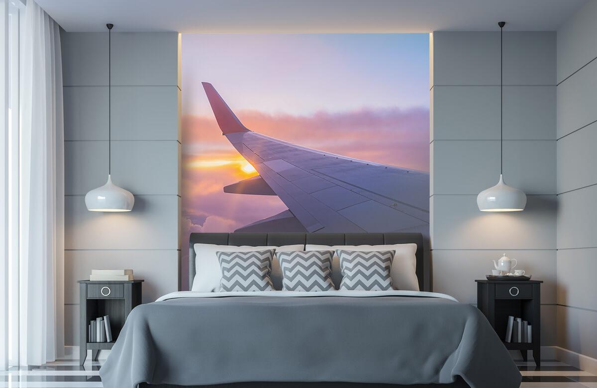 Transport Vliegtuigvleugel in de wolken 8
