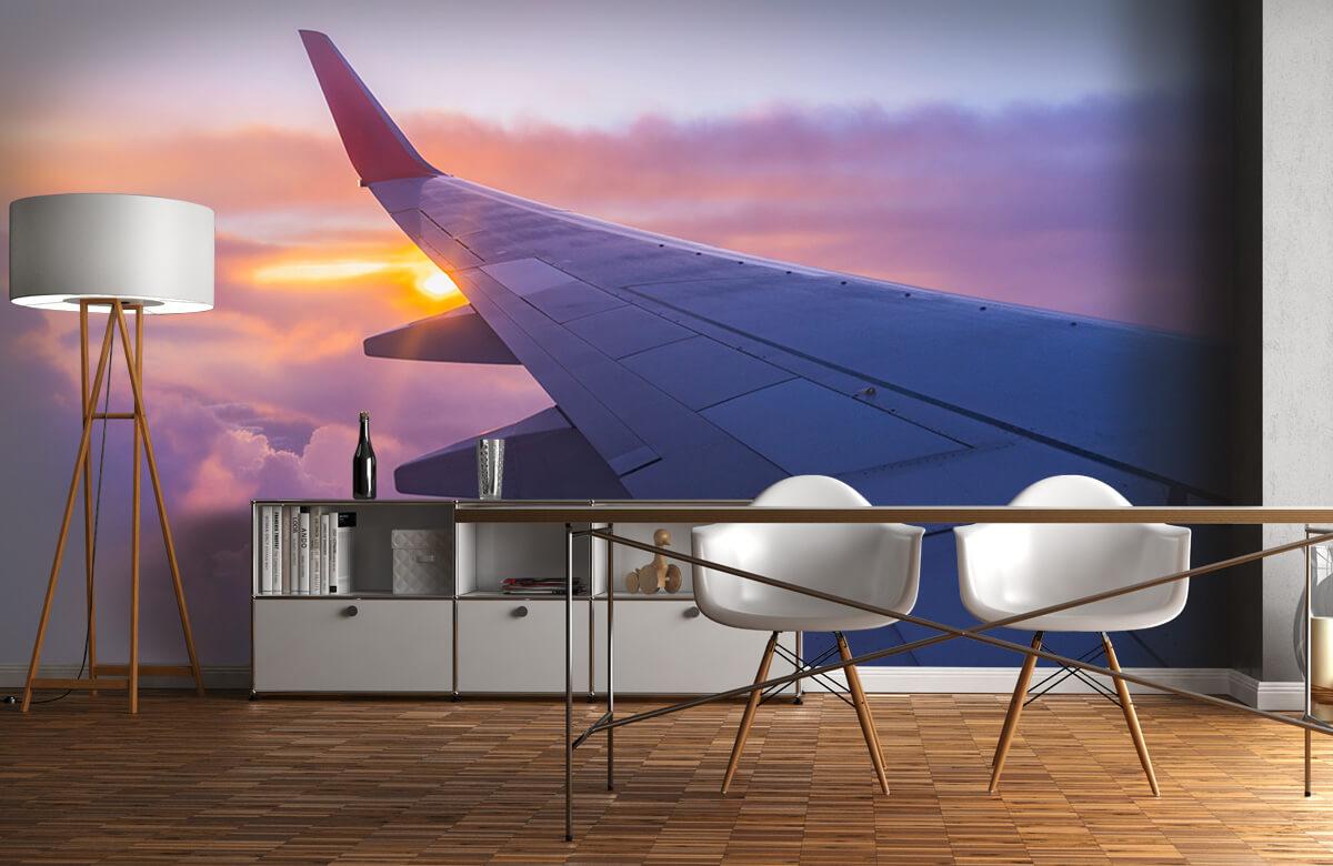 Transport Vliegtuigvleugel in de wolken 11