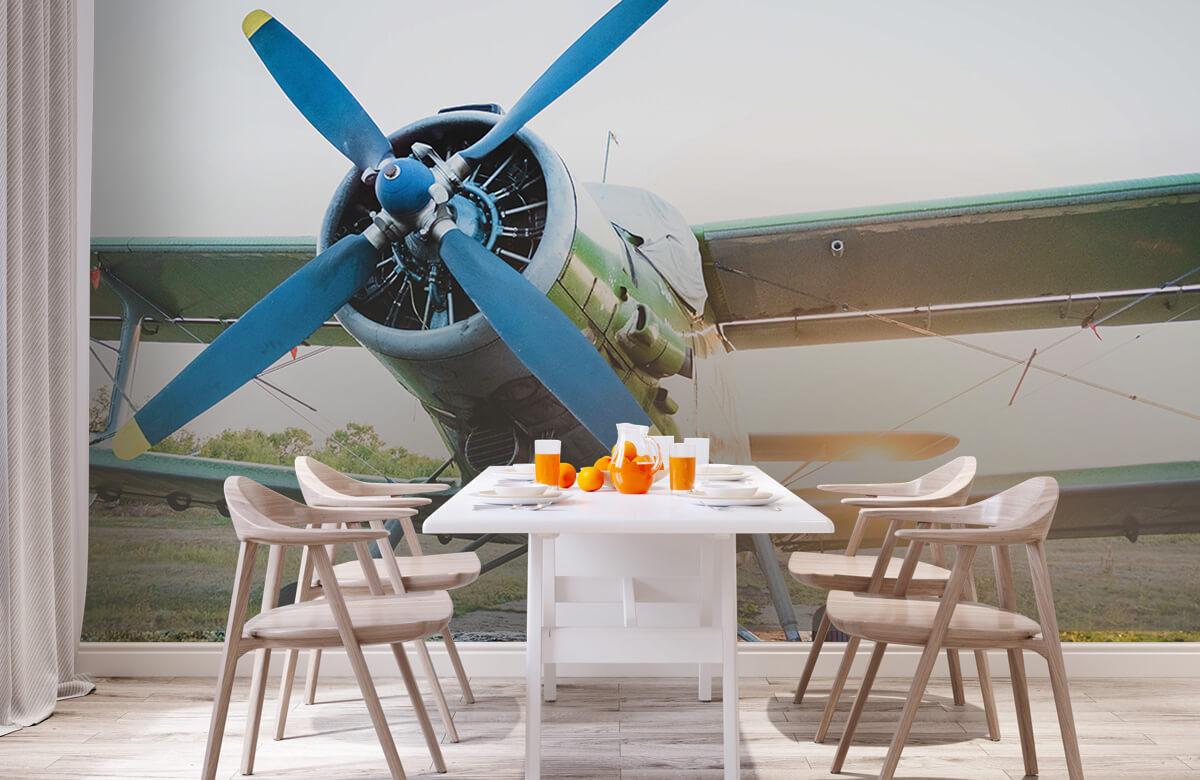 Transport Klein eenmotorig privévliegtuig 2