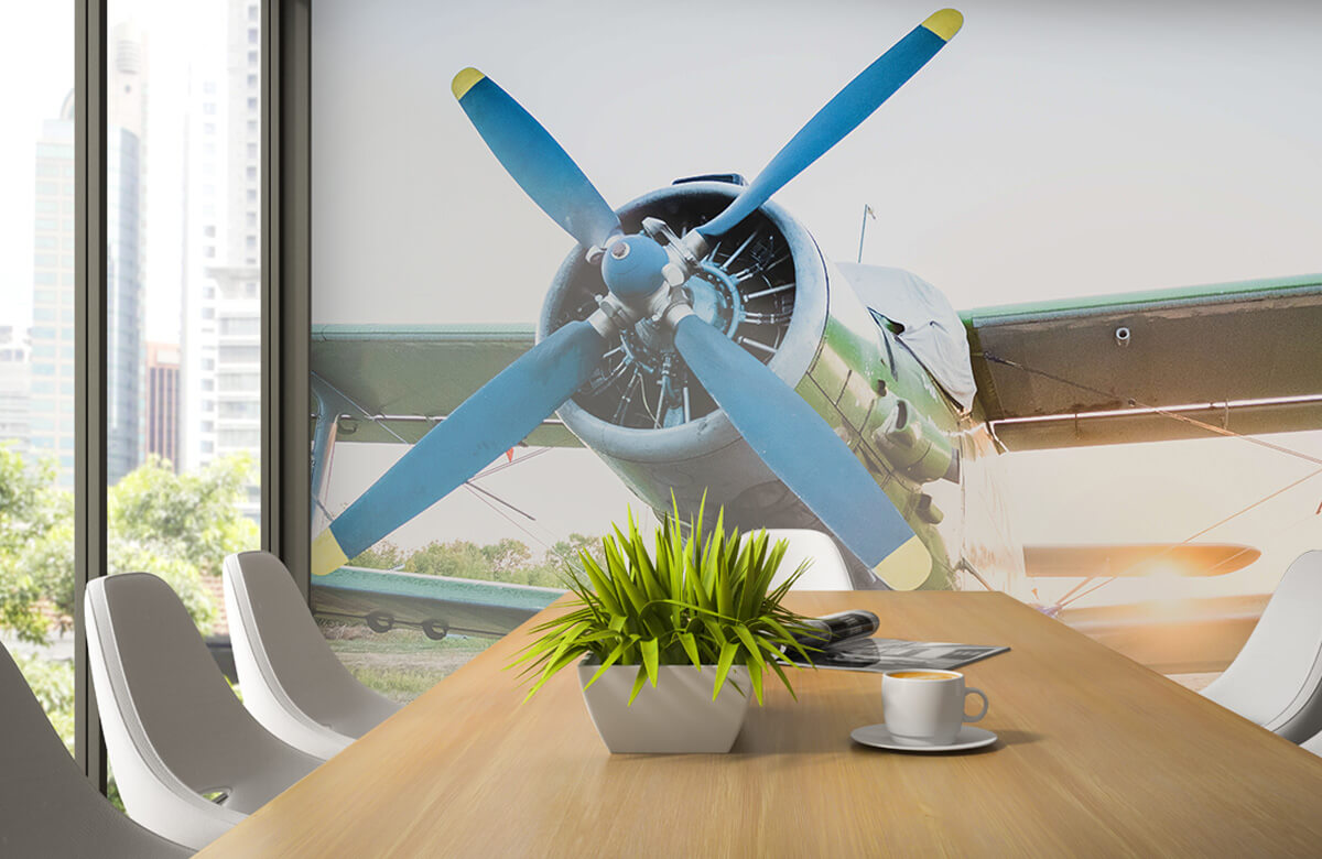 Transport Klein eenmotorig privévliegtuig 3