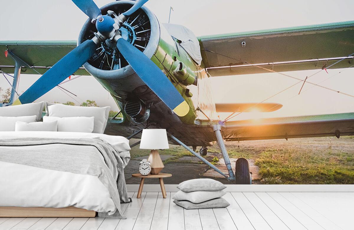 Transport Klein eenmotorig privévliegtuig 1
