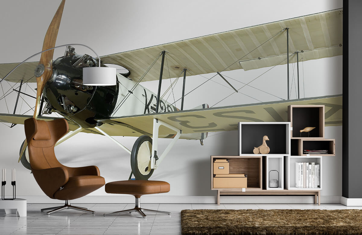 Transport Oud vliegtuig FK 23 Bantam 4