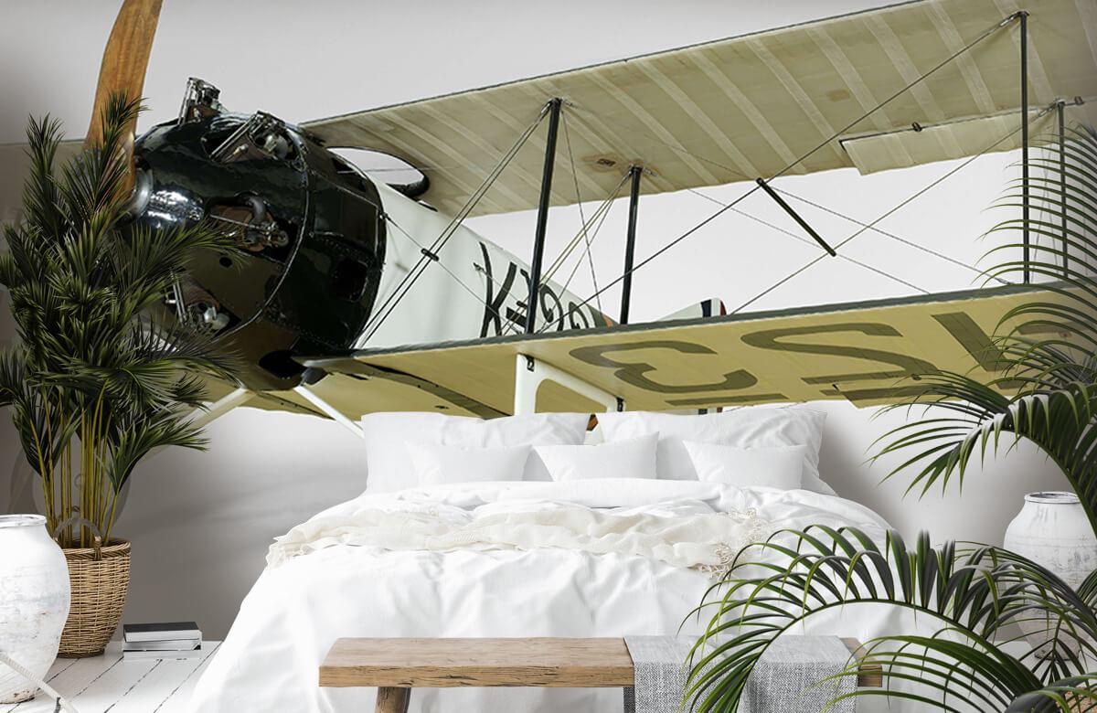 Transport Oud vliegtuig FK 23 Bantam 6