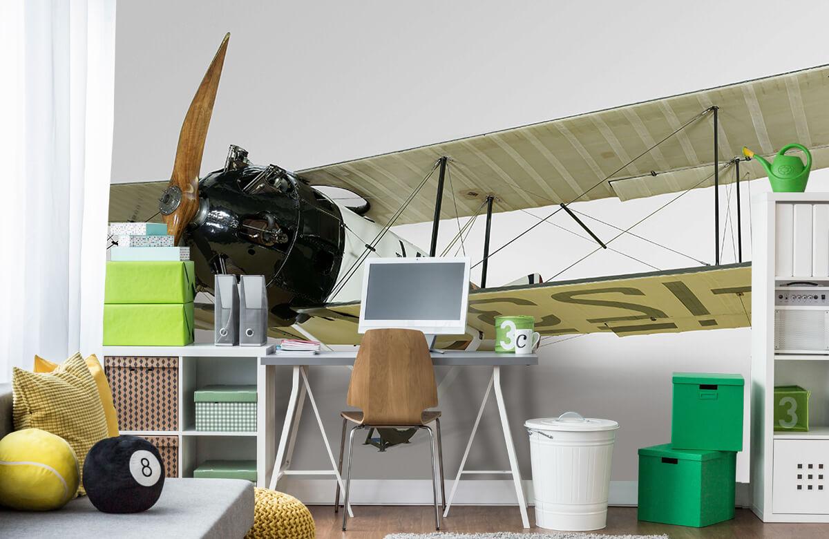 Transport Oud vliegtuig FK 23 Bantam 9