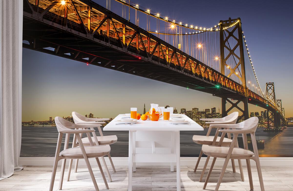 Wereld & Steden Bay Bridge met licht 2
