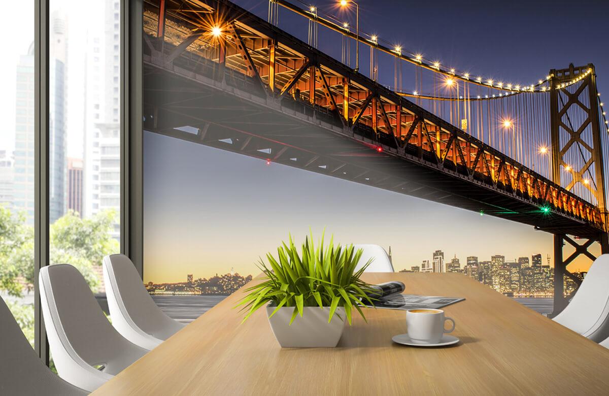Wereld & Steden Bay Bridge met licht 3