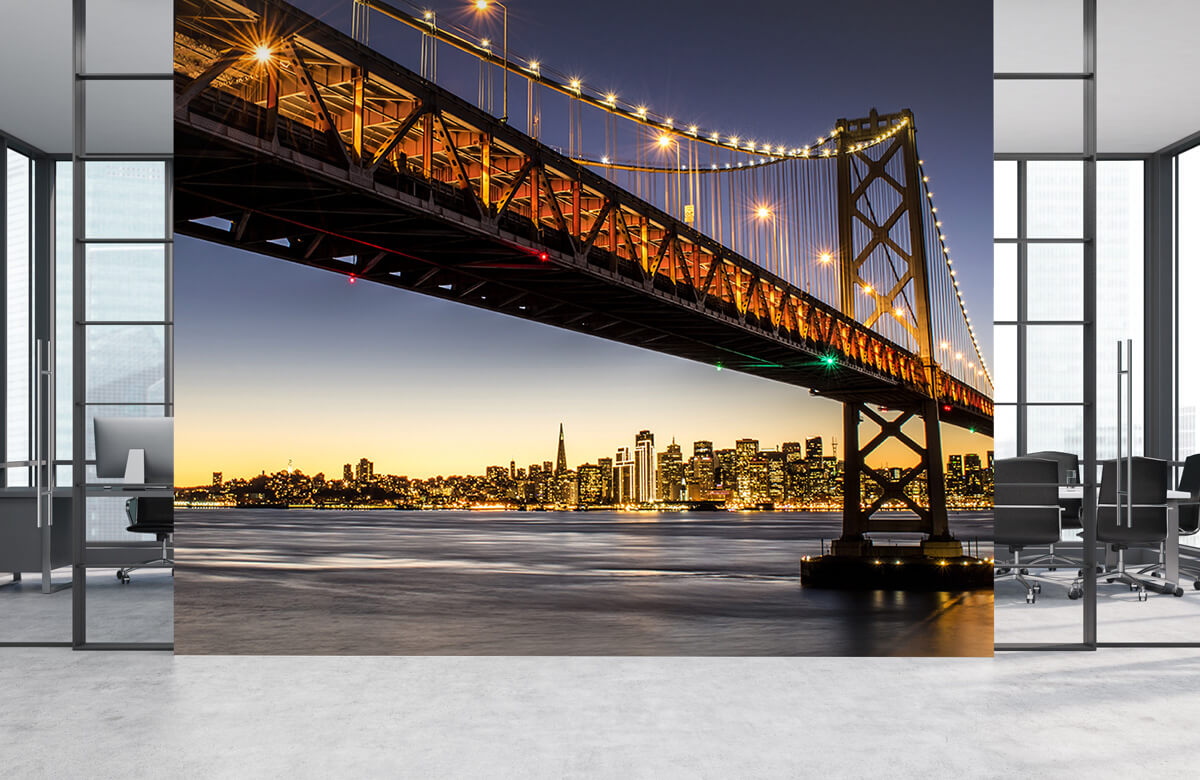 Wereld & Steden Bay Bridge met licht 4