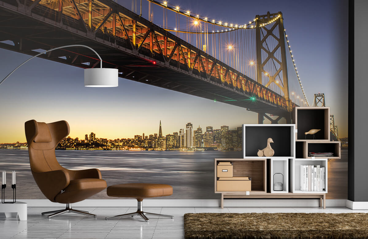 Wereld & Steden Bay Bridge met licht 5