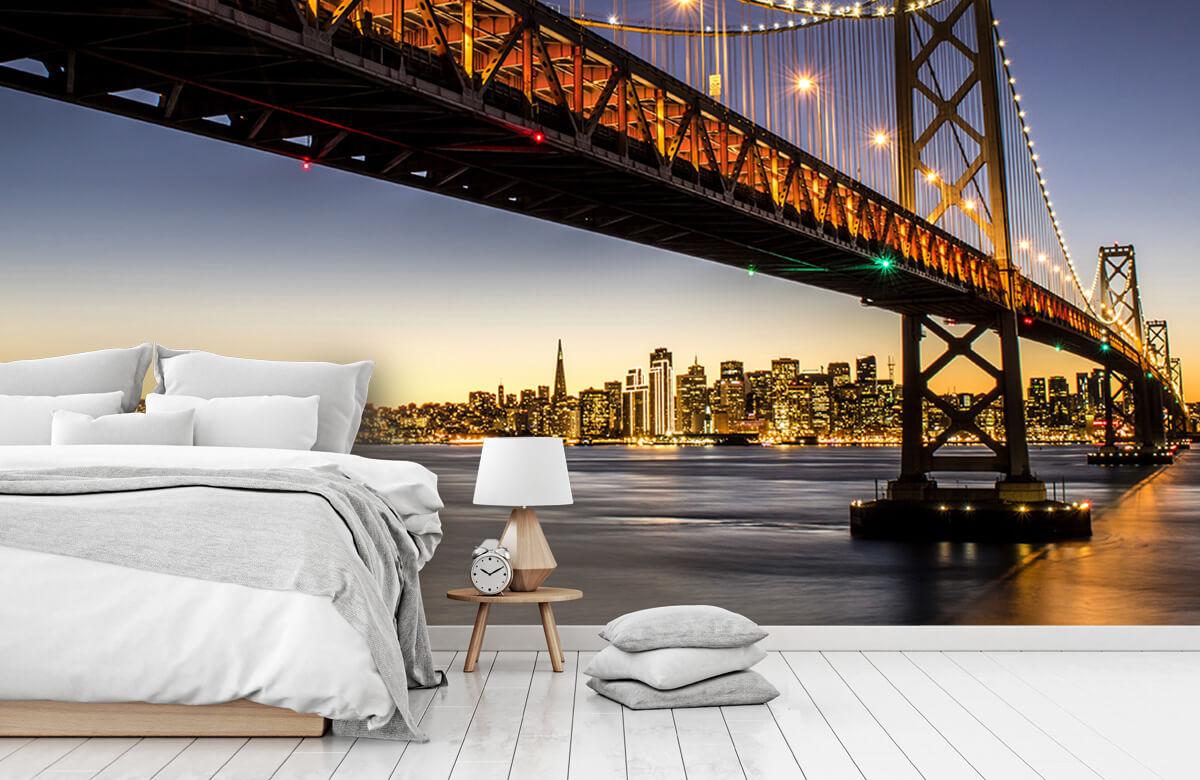 Wereld & Steden Bay Bridge met licht 7