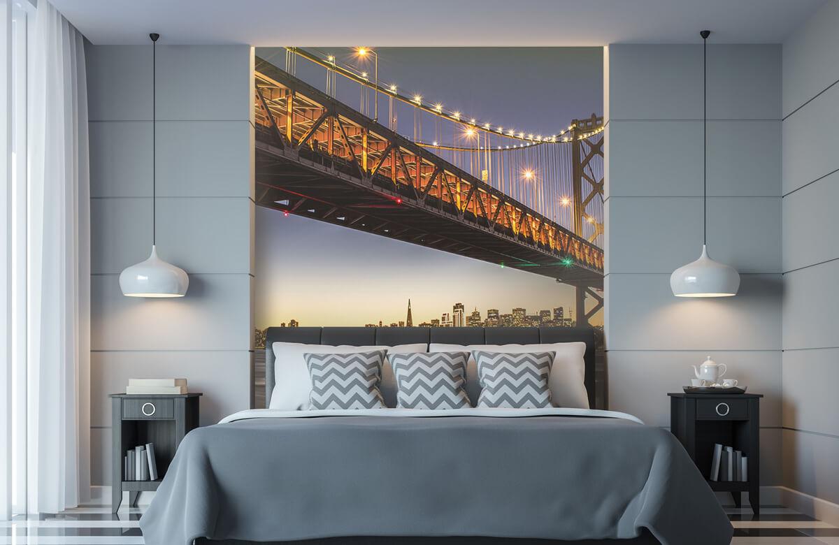 Wereld & Steden Bay Bridge met licht 8