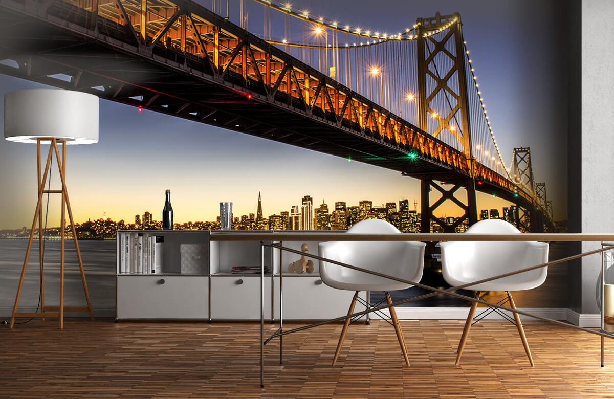 Wereld & Steden Bay Bridge met licht 11