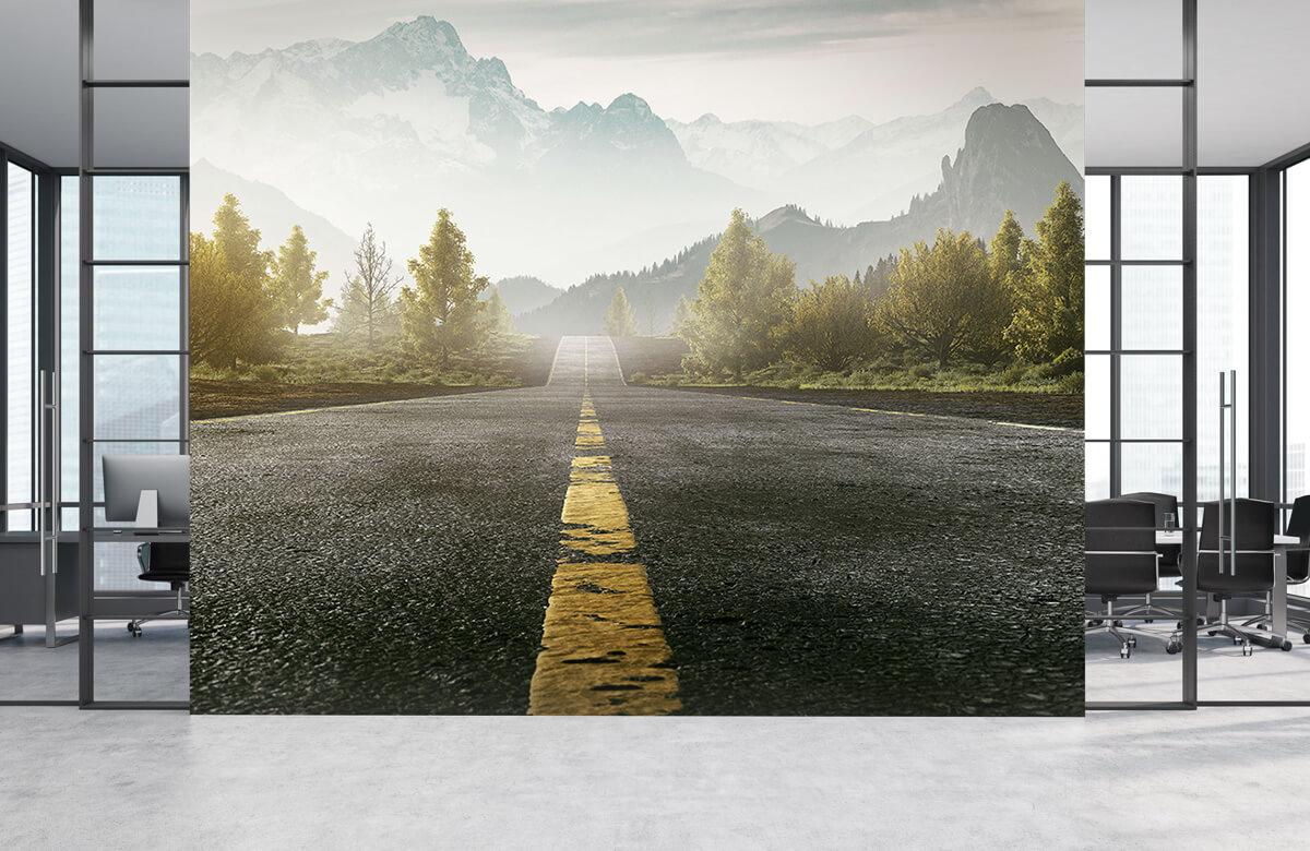 Wereld & Steden Weg met bergen 1