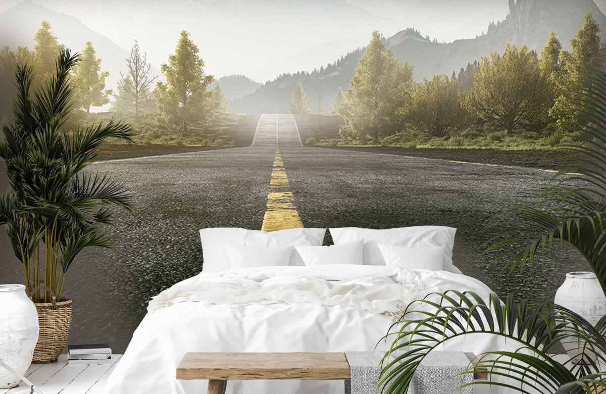 Wereld & Steden Weg met bergen 6