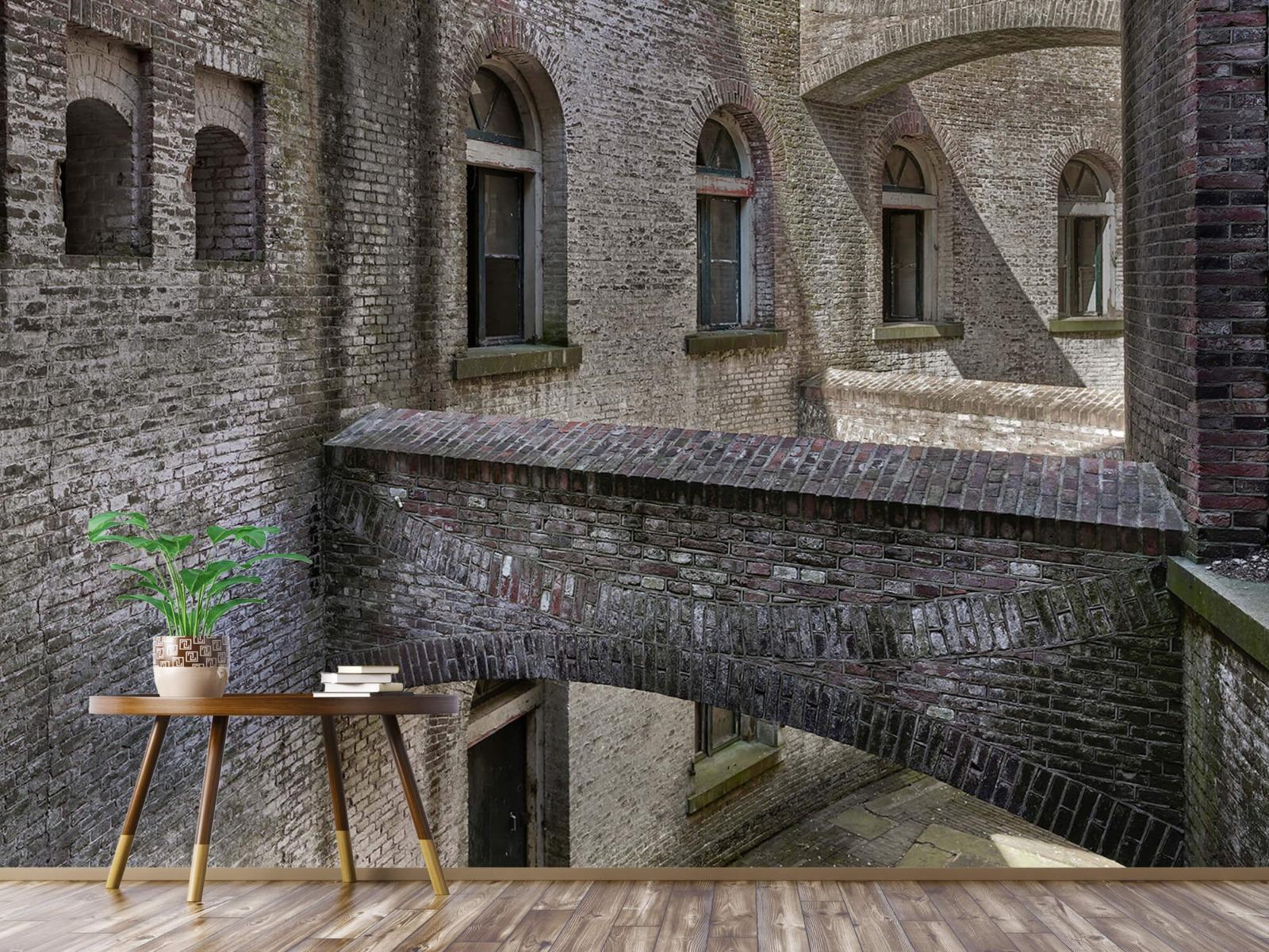 3D - Oud gebouw met bogen 8