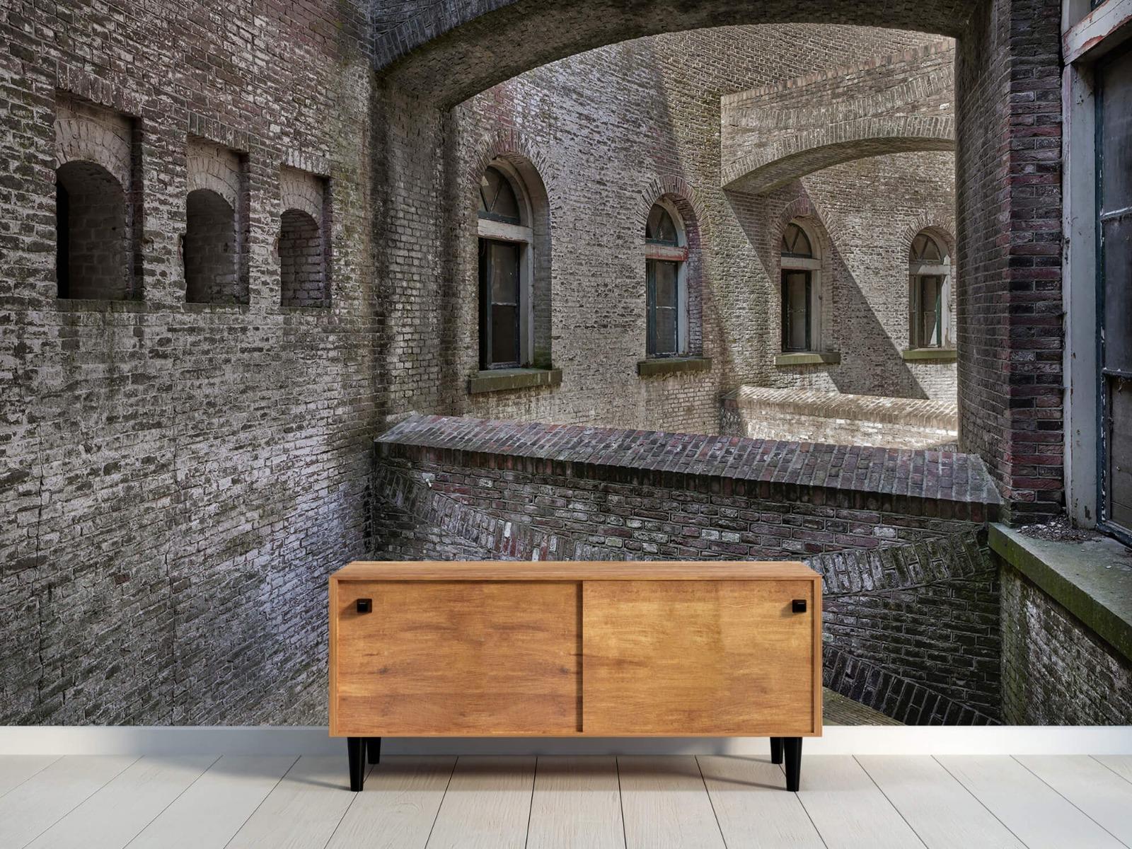 3D - Oud gebouw met bogen 14