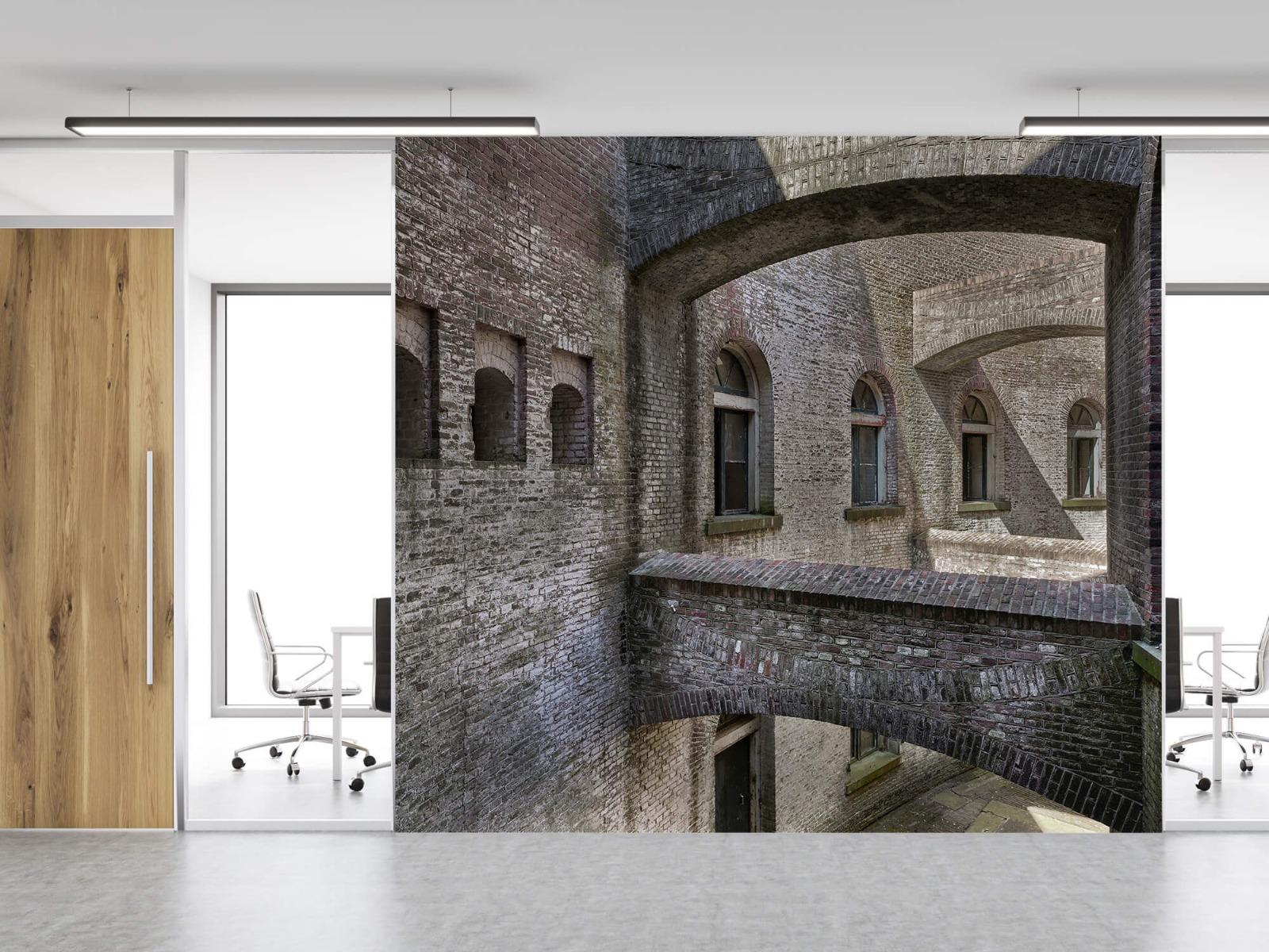 3D - Oud gebouw met bogen 16
