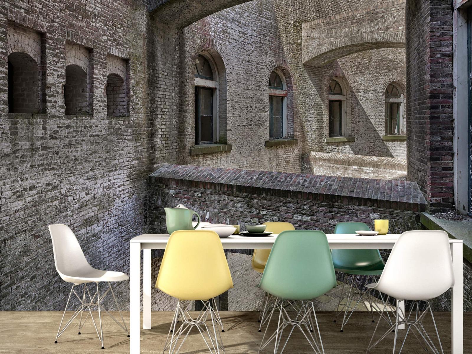 3D - Oud gebouw met bogen 5