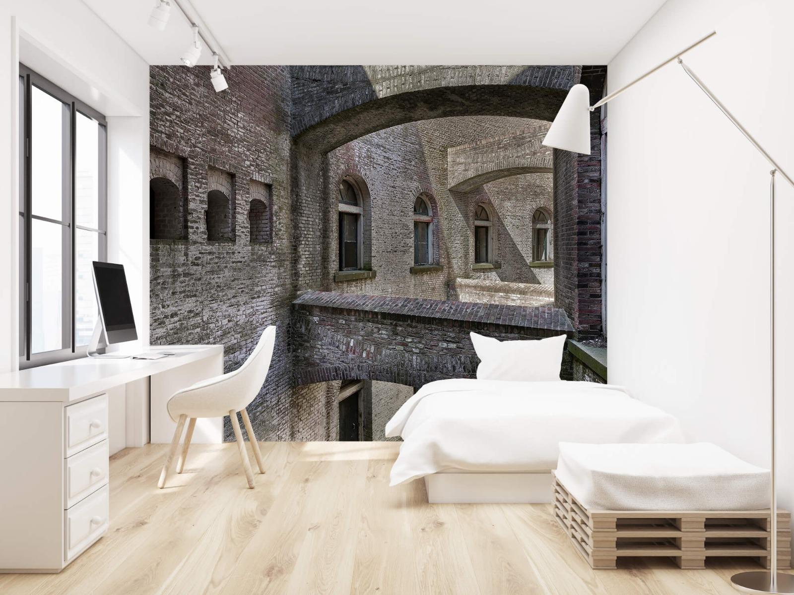 3D - Oud gebouw met bogen 22