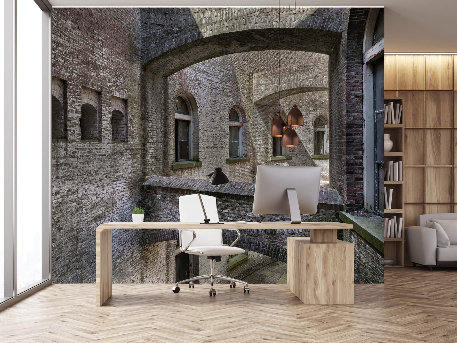 3D - Oud gebouw met bogen 24