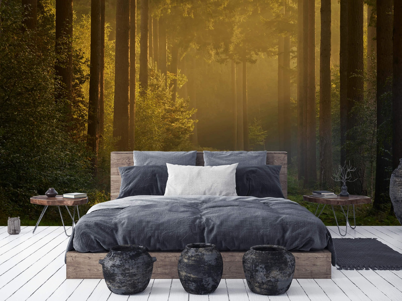 Natuur - Zonsopkomst bij weg door het bos 7