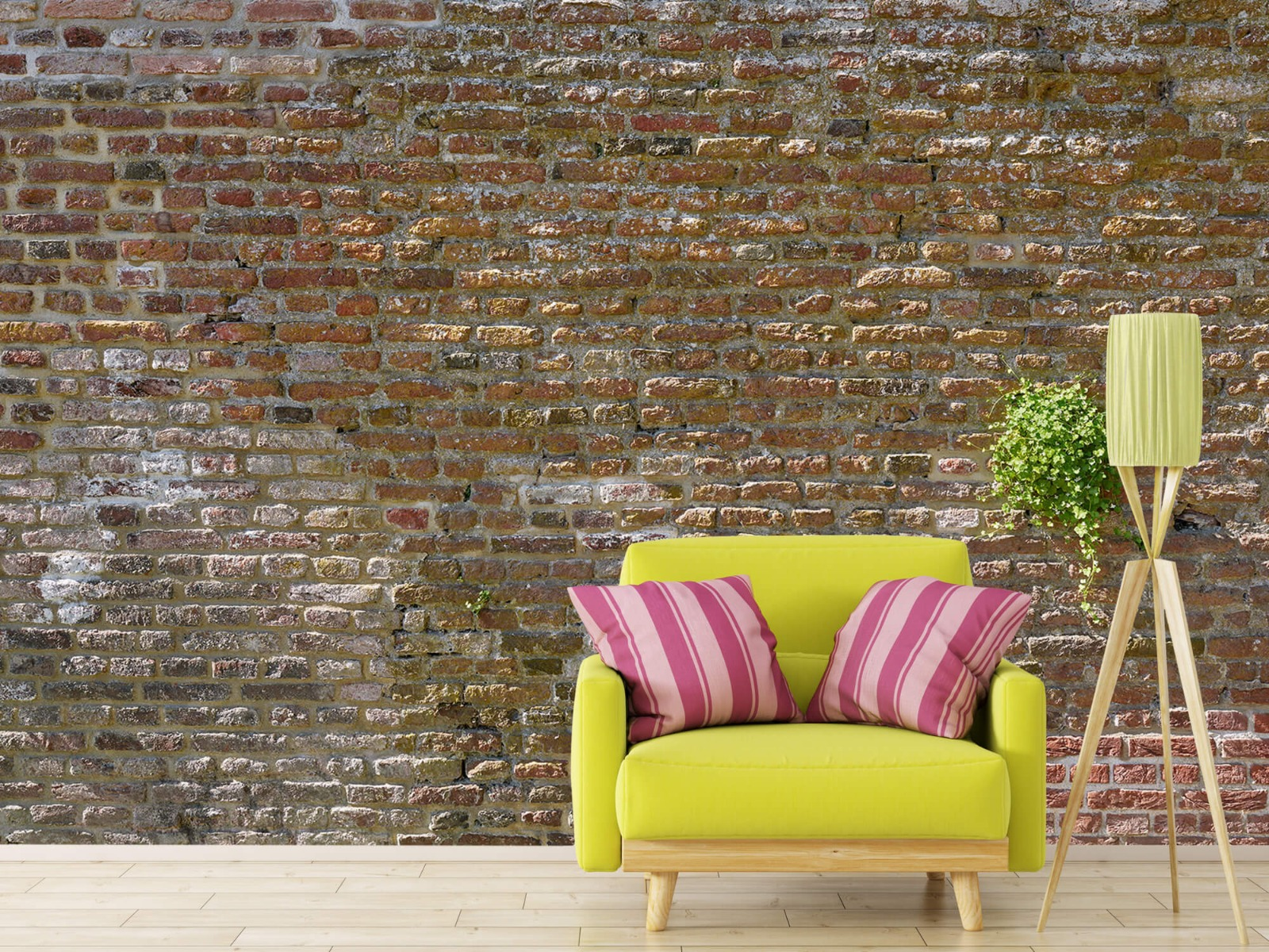 Stenen - Oude stenen stadsmuur met plantjes 17