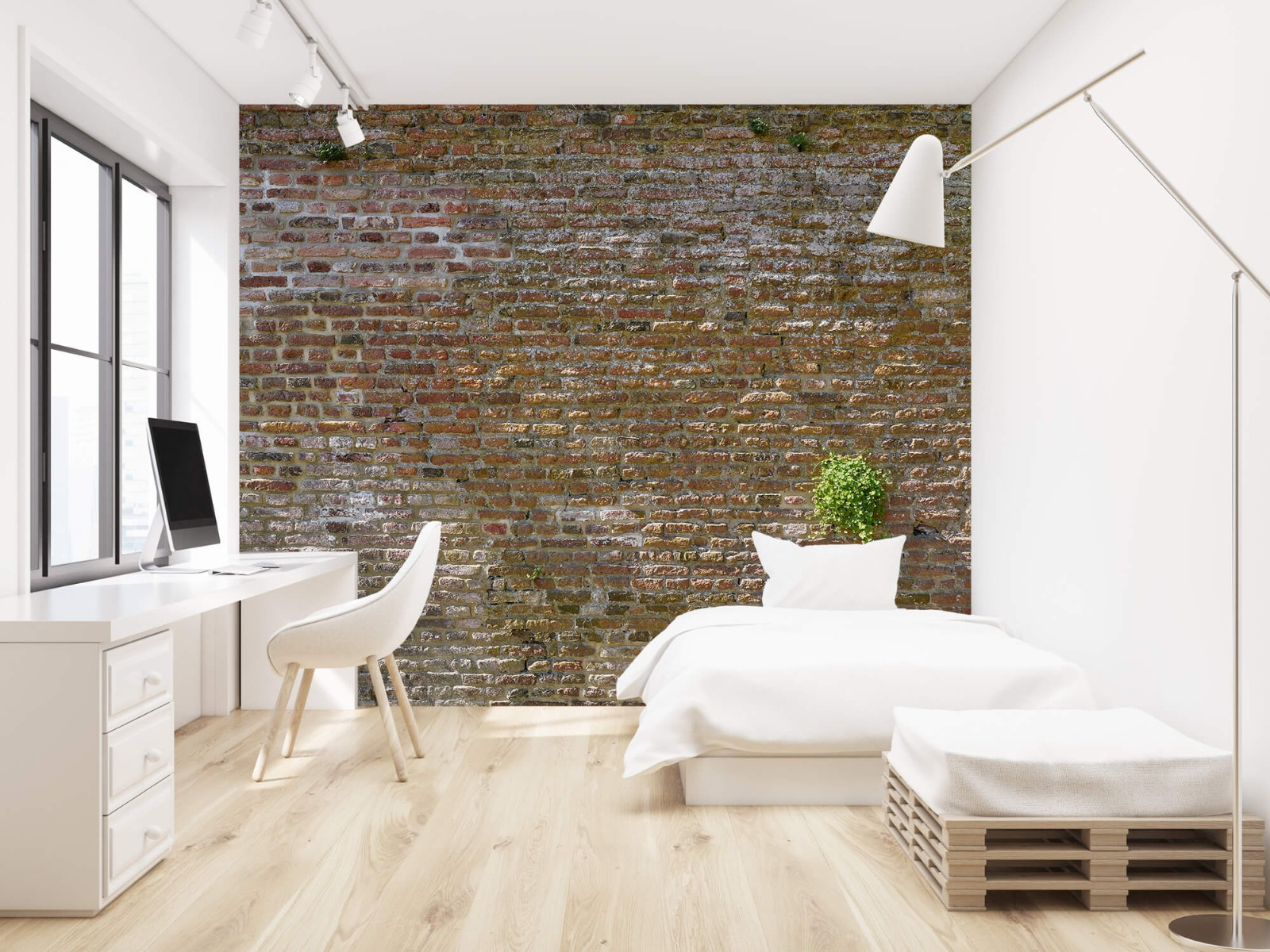 Stenen - Oude stenen stadsmuur met plantjes 22