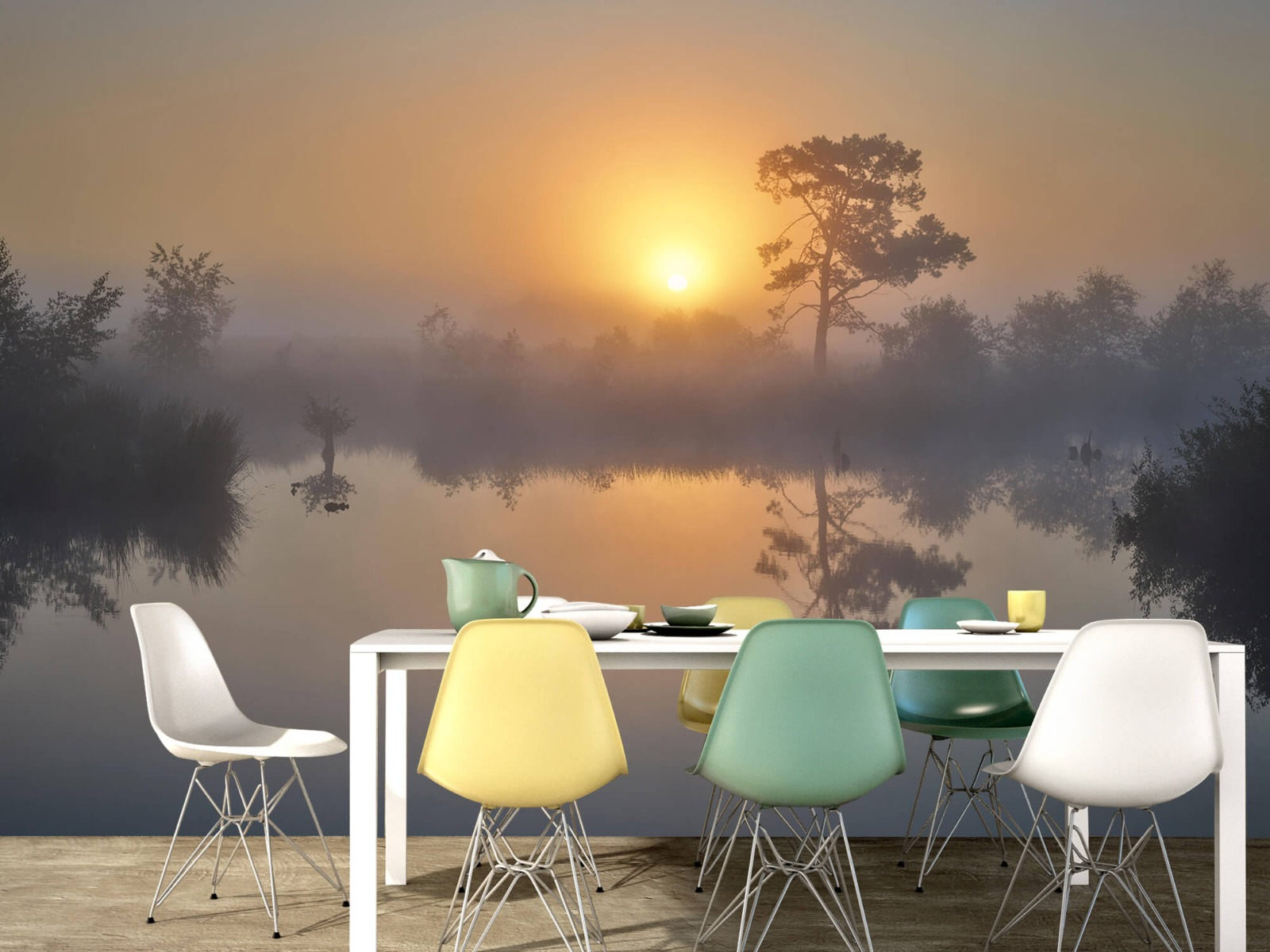 Natuur - Mistige zonsopkomst 16