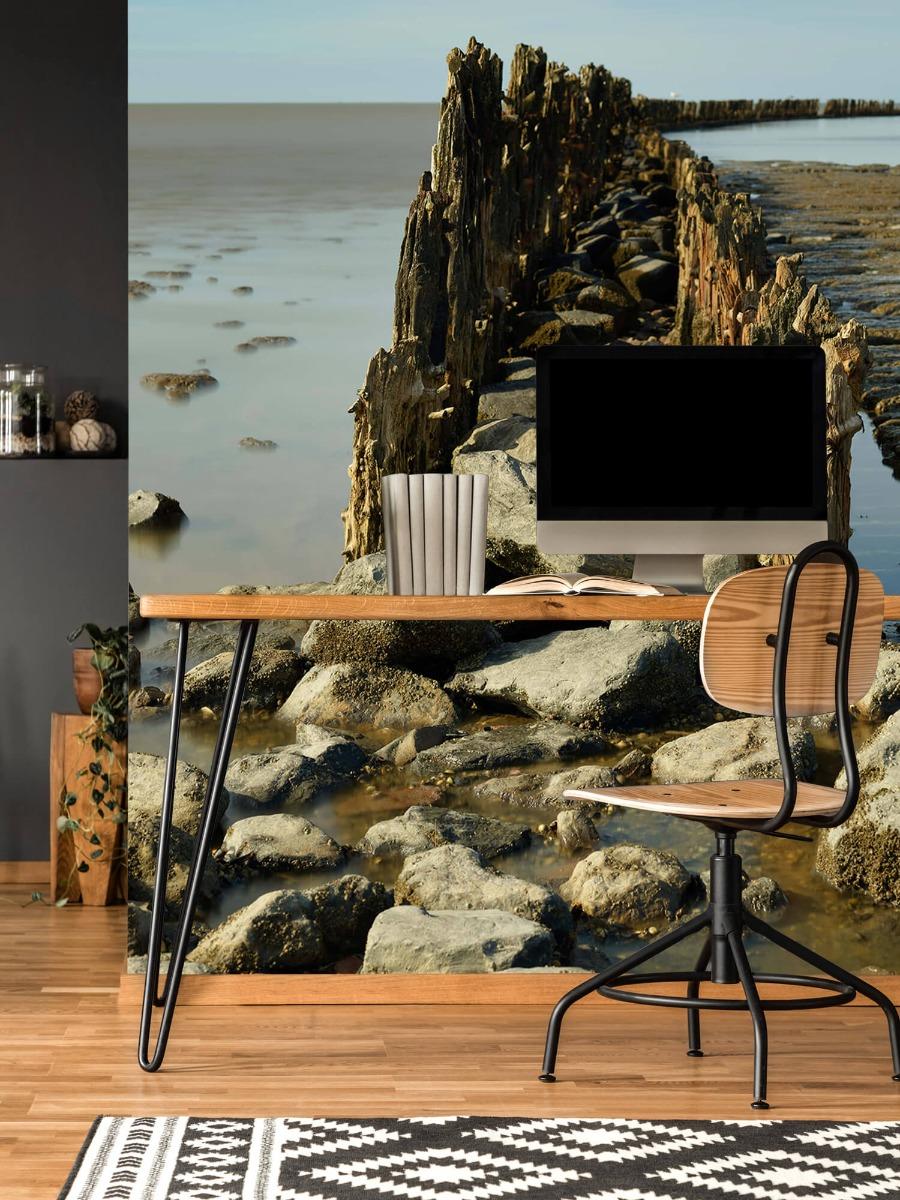 Zee - Golfbreker van hout en steen 11