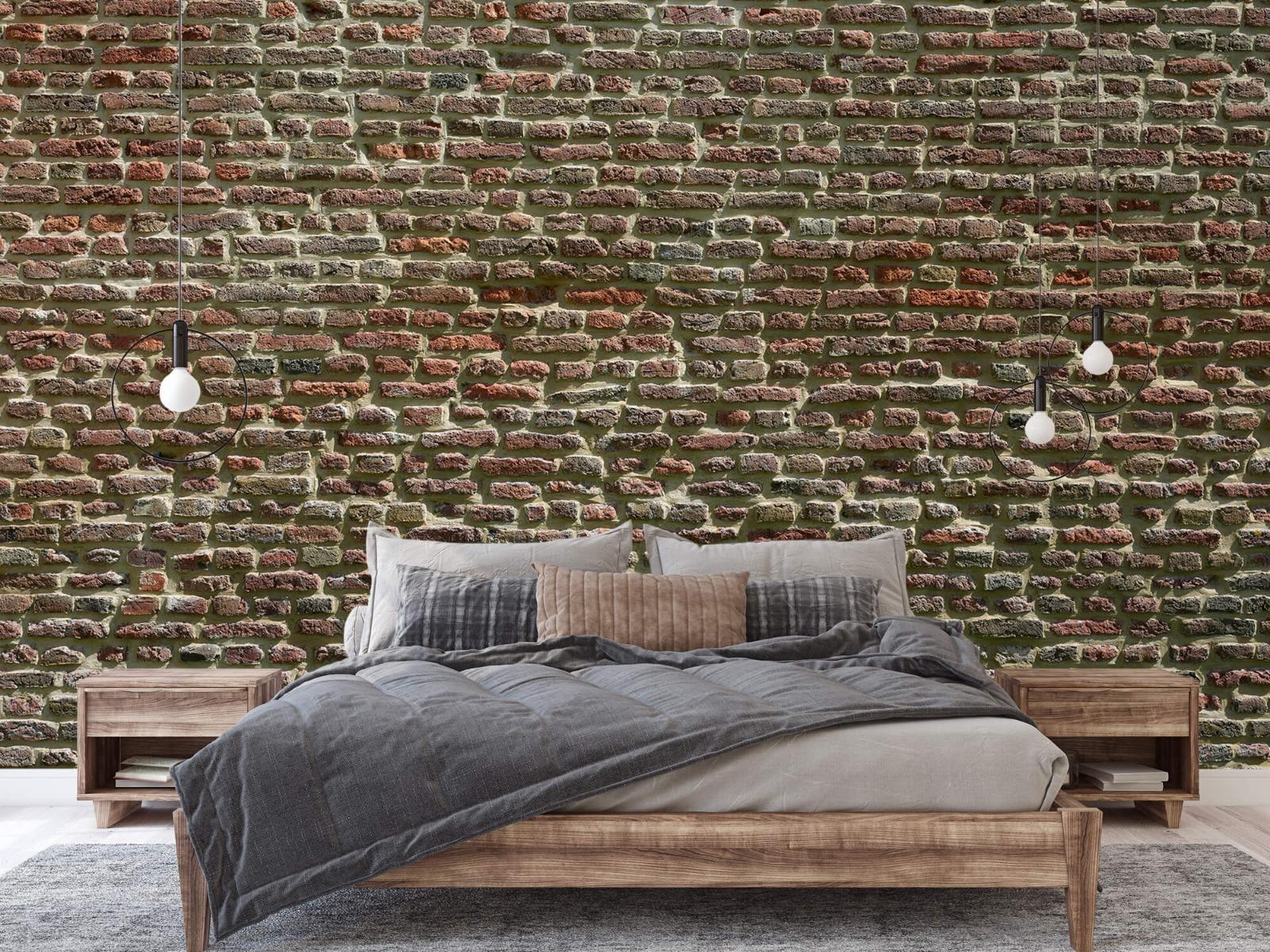 Stenen - Muur van oude bakstenen 4