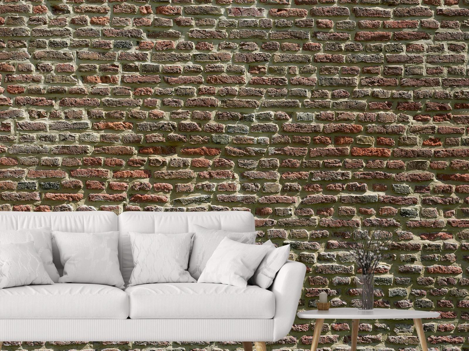 Stenen - Muur van oude bakstenen 5
