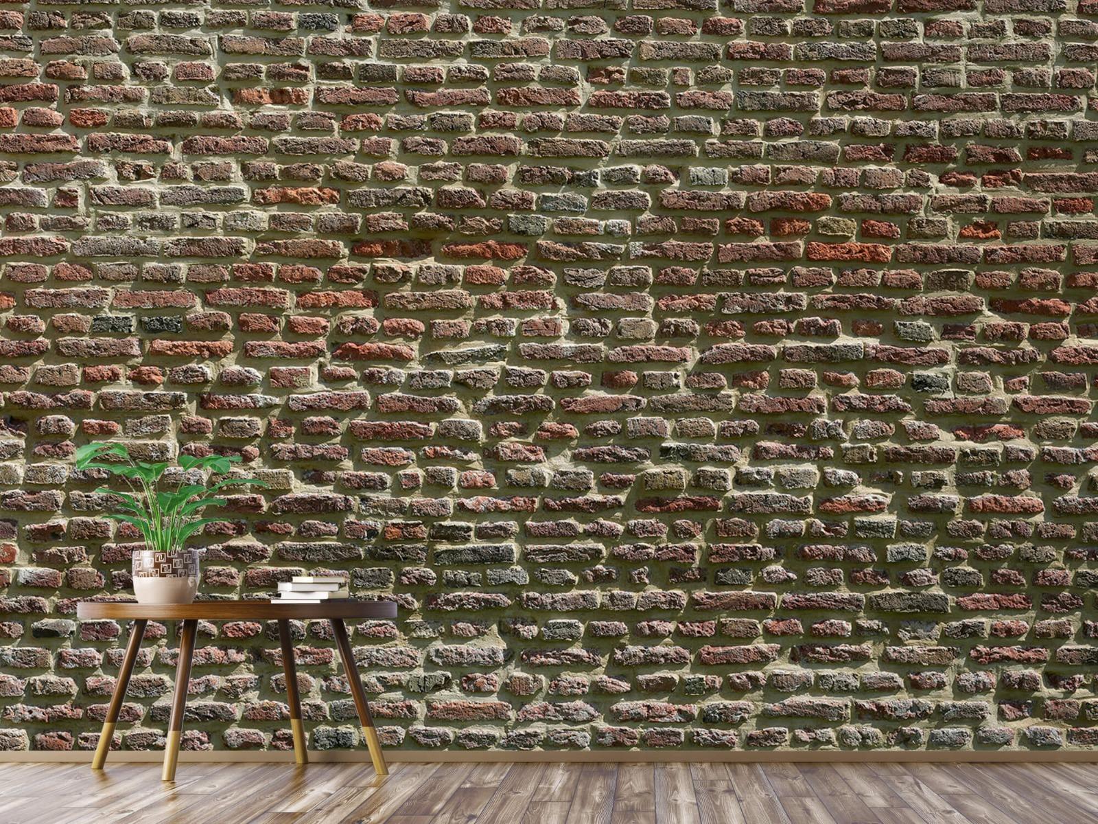 Stenen - Muur van oude bakstenen 6