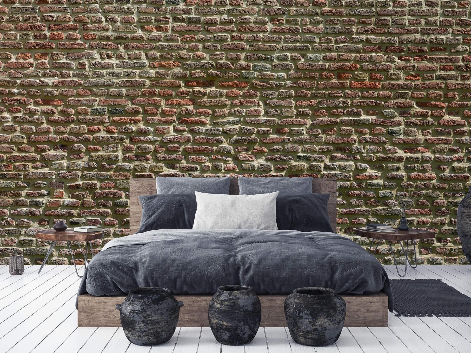 Stenen - Muur van oude bakstenen 8