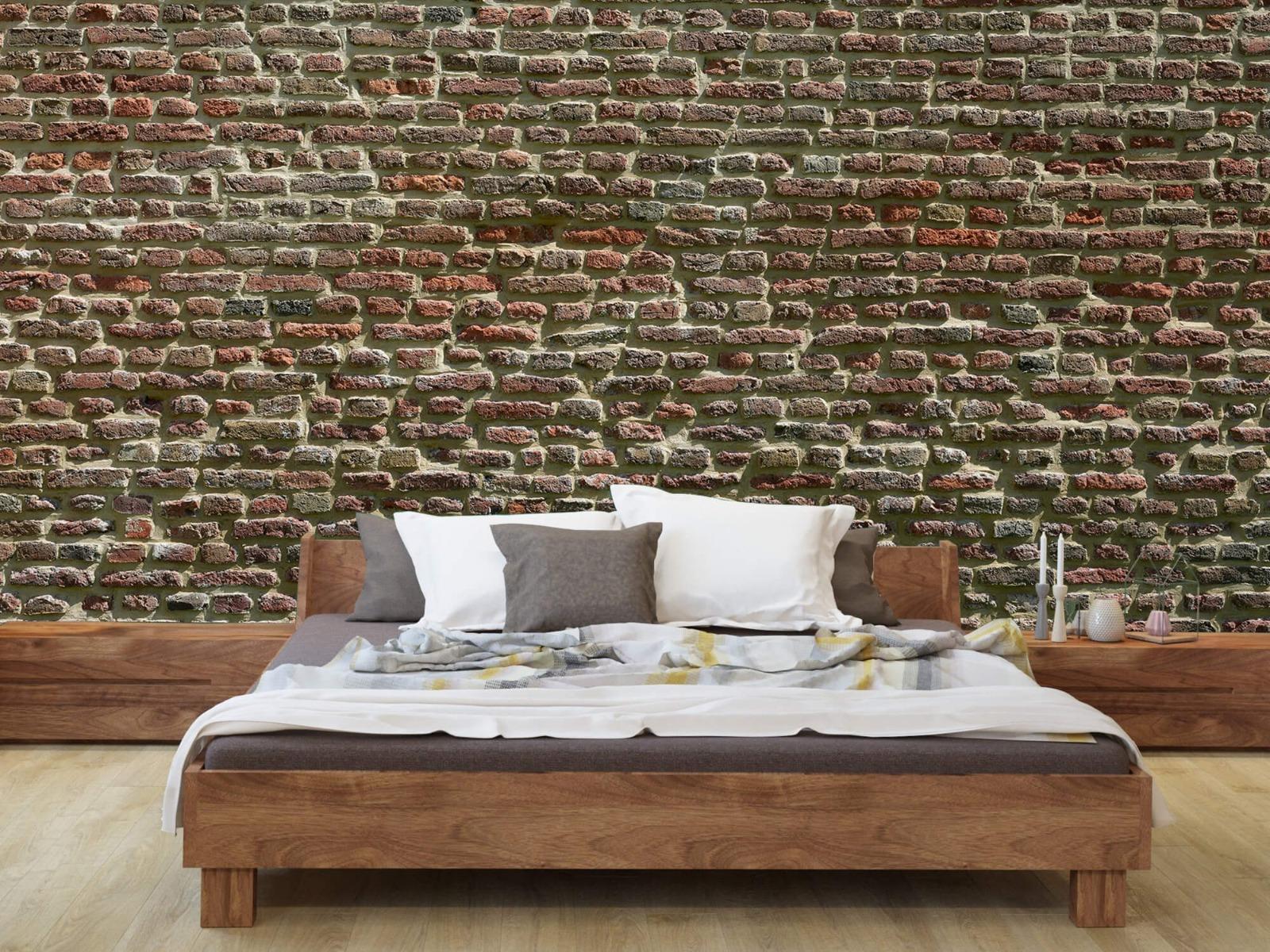 Stenen - Muur van oude bakstenen 10