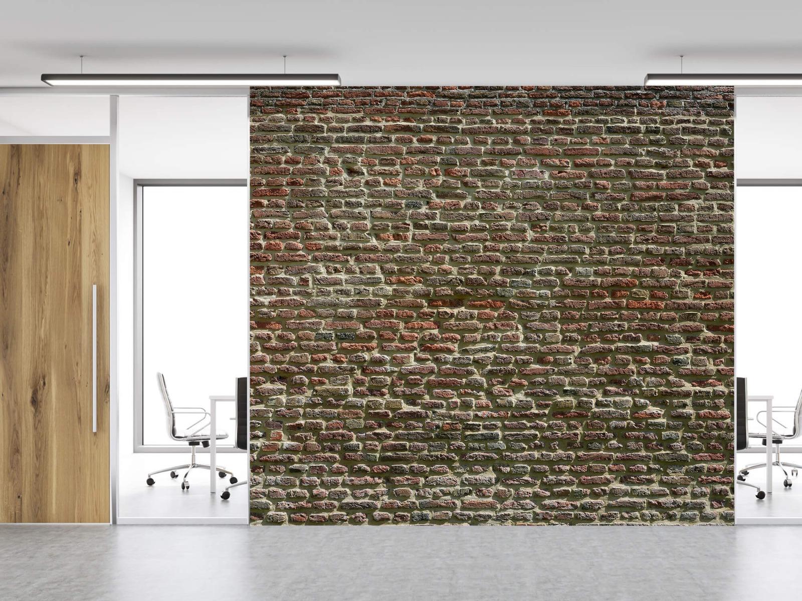 Stenen - Muur van oude bakstenen 13