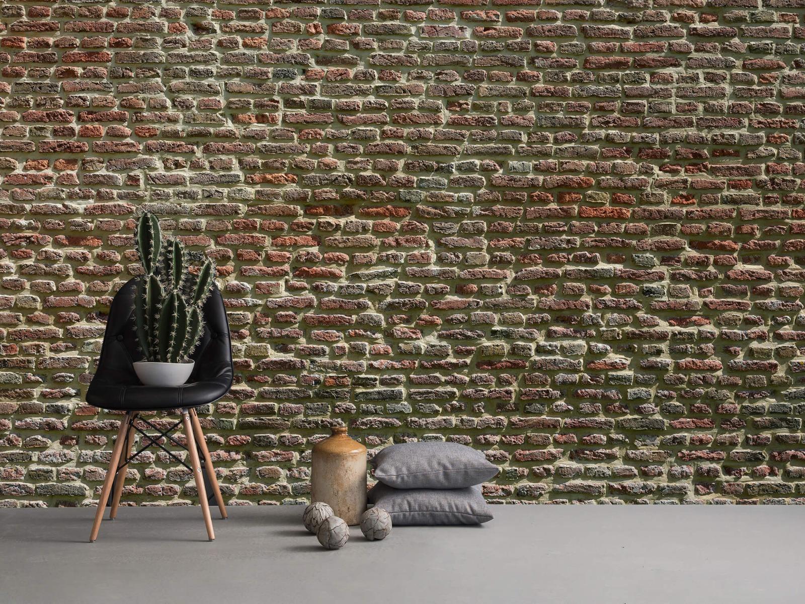 Stenen - Muur van oude bakstenen 15