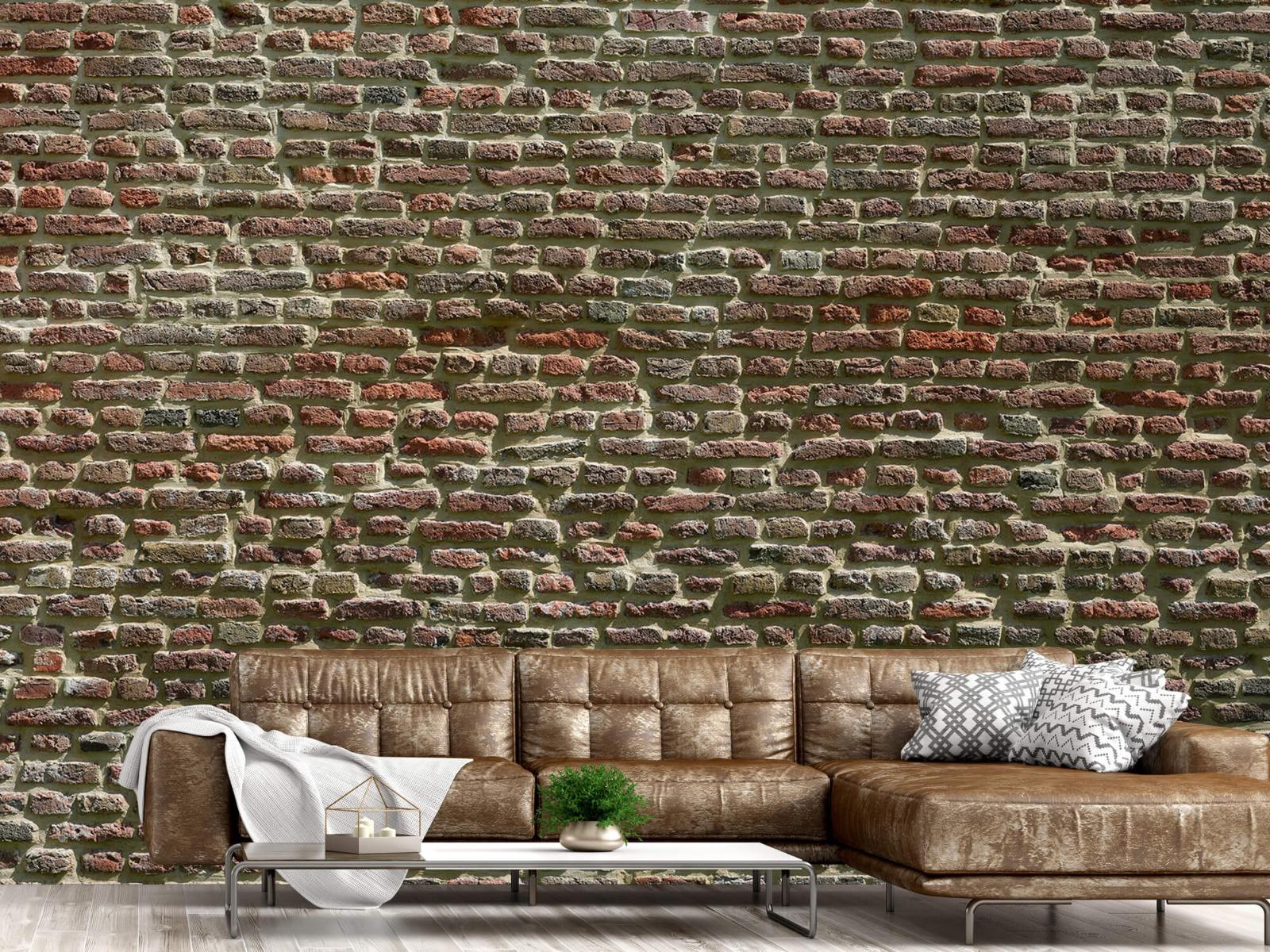 Stenen - Muur van oude bakstenen 16