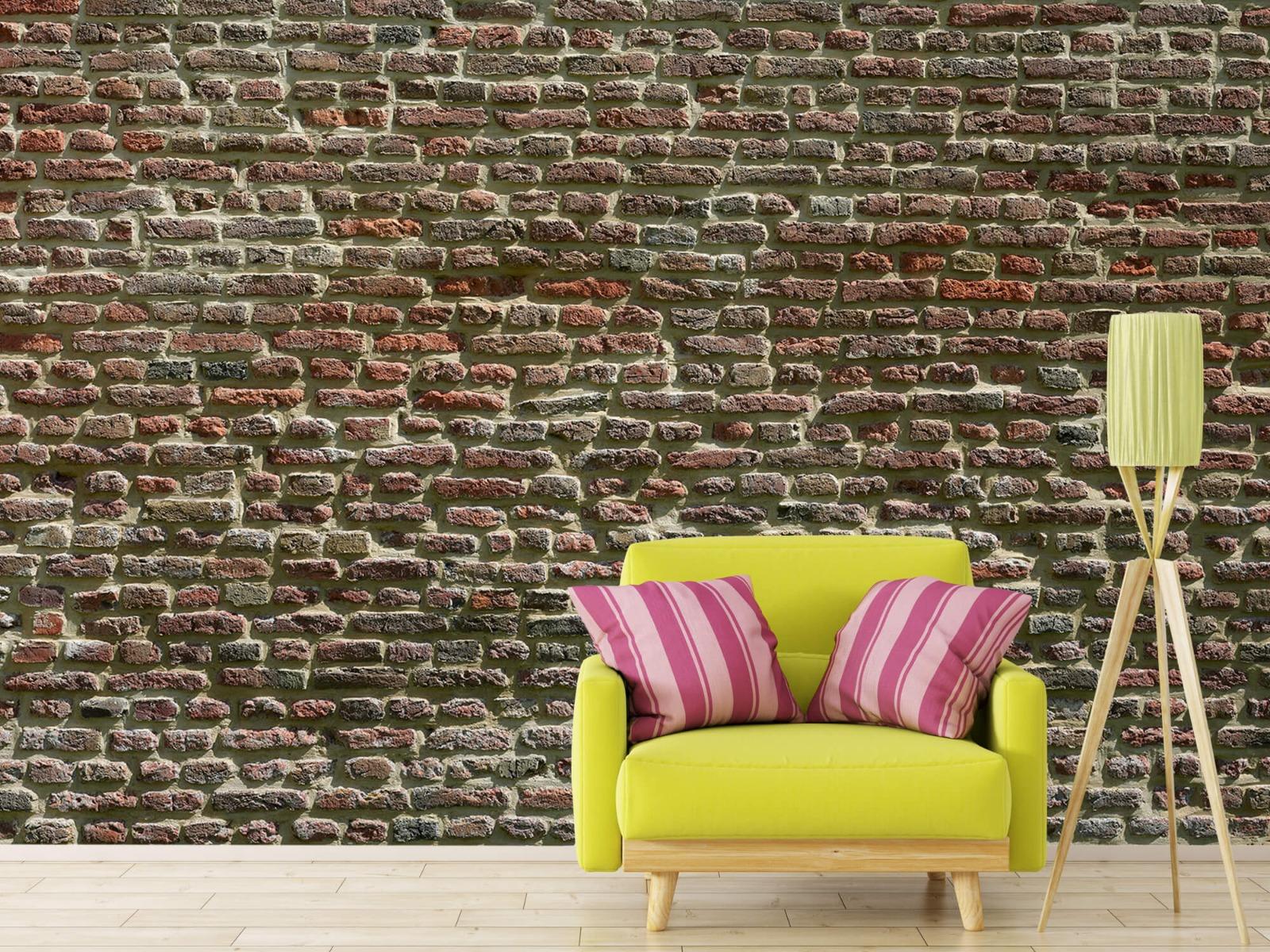 Stenen - Muur van oude bakstenen 19