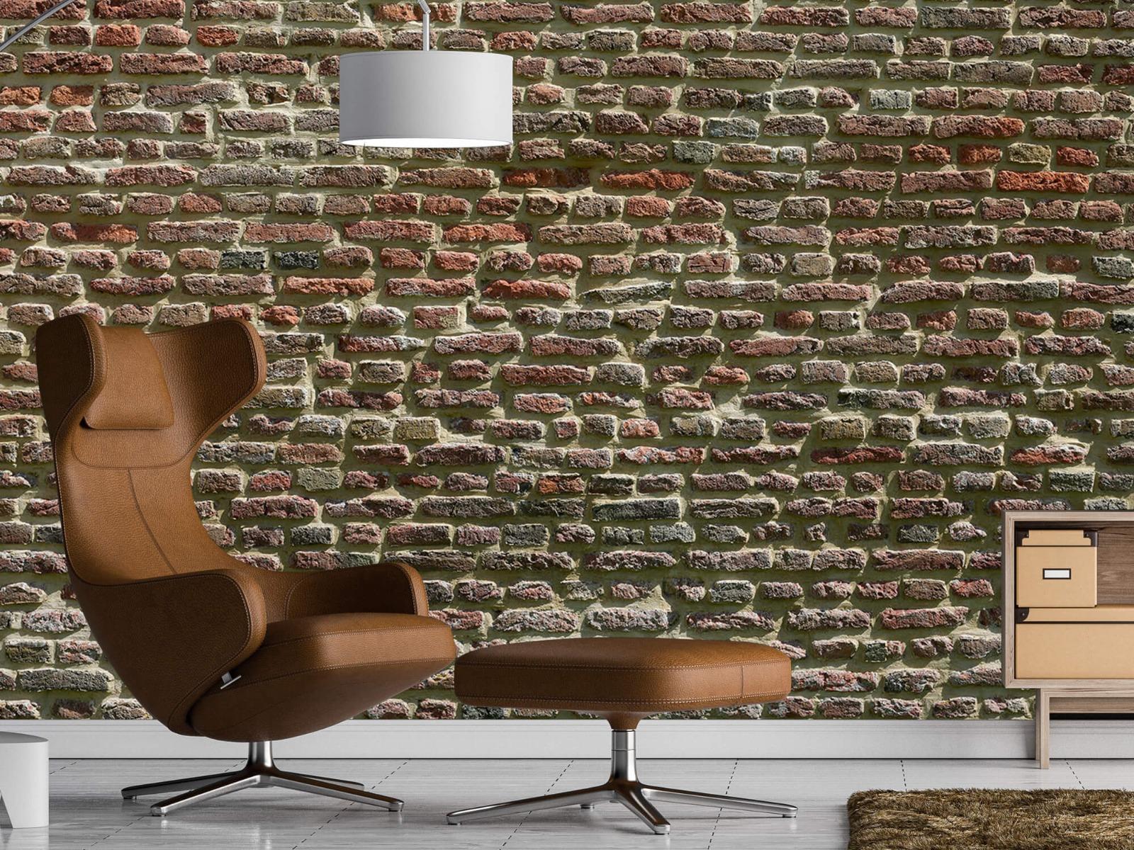 Stenen - Muur van oude bakstenen 21