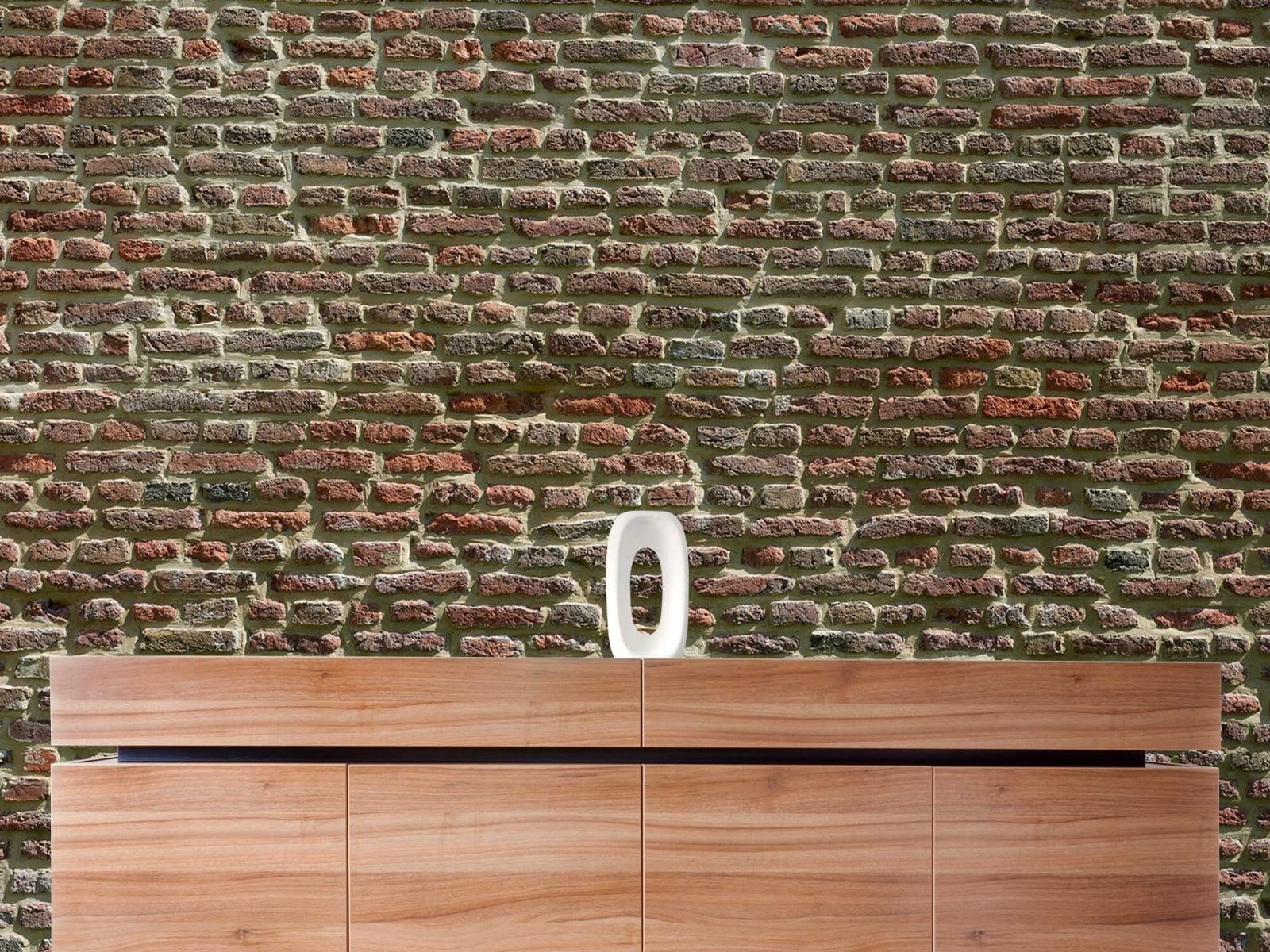 Stenen - Muur van oude bakstenen 2