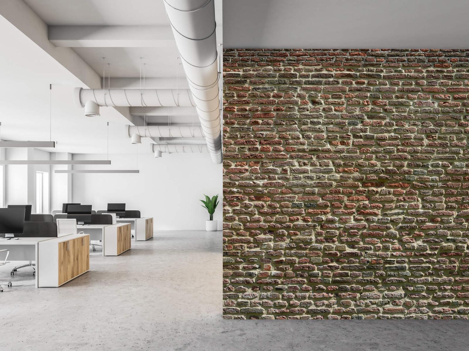 Stenen - Muur van oude bakstenen 22