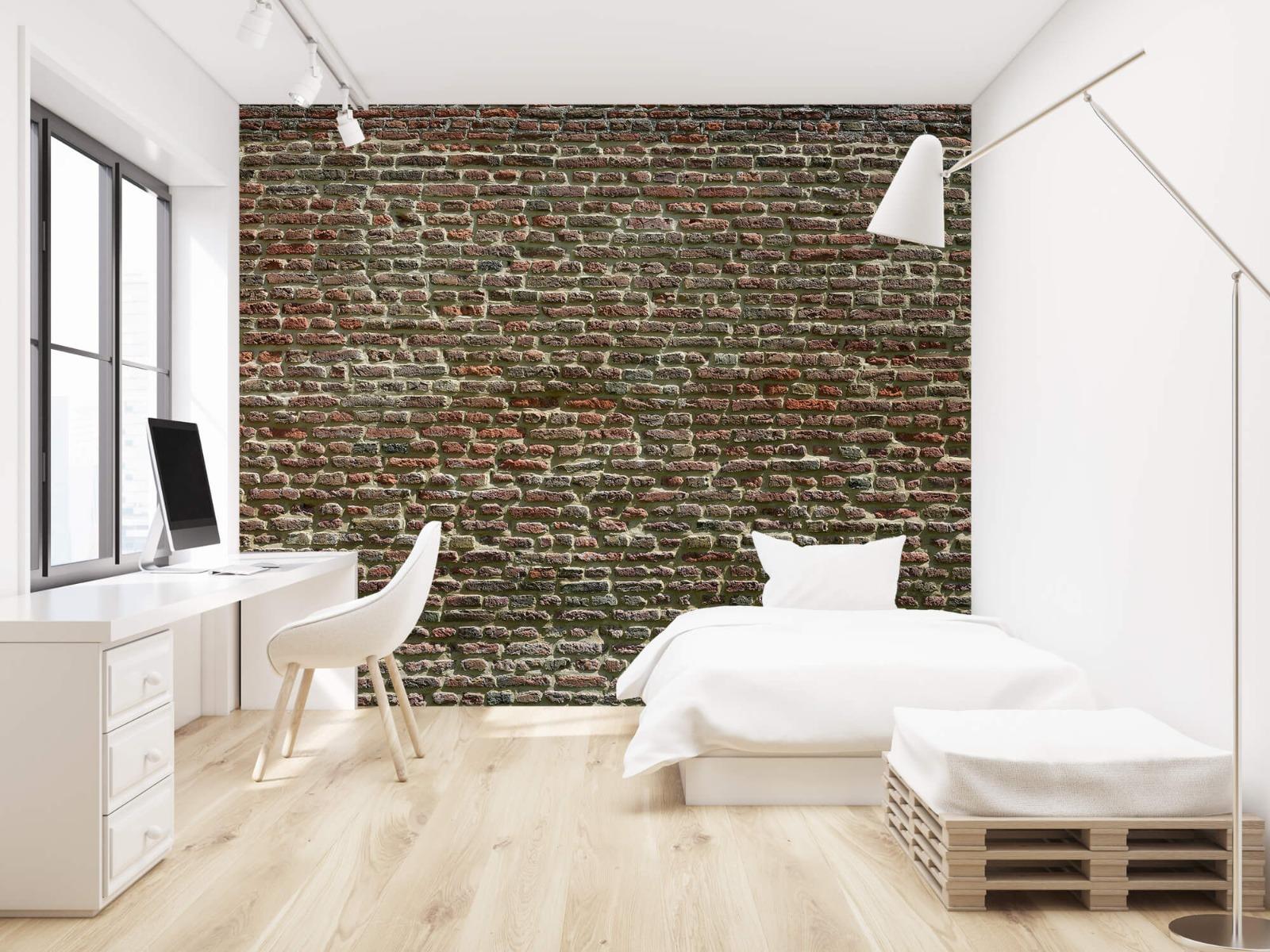 Stenen - Muur van oude bakstenen 23