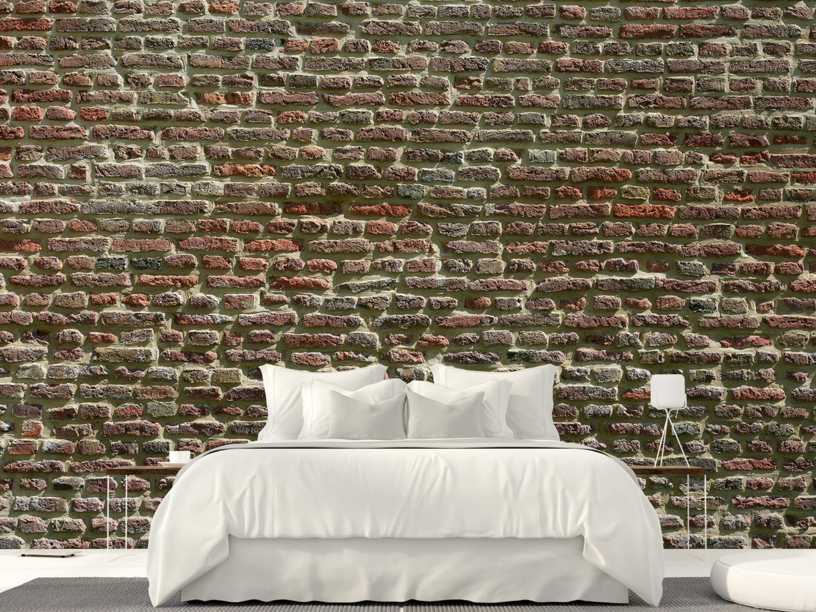Stenen - Muur van oude bakstenen 24
