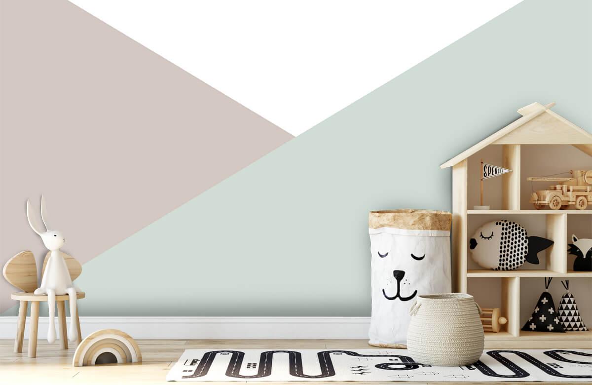 Hip & Trendy Pastelkleurige driehoeken 1