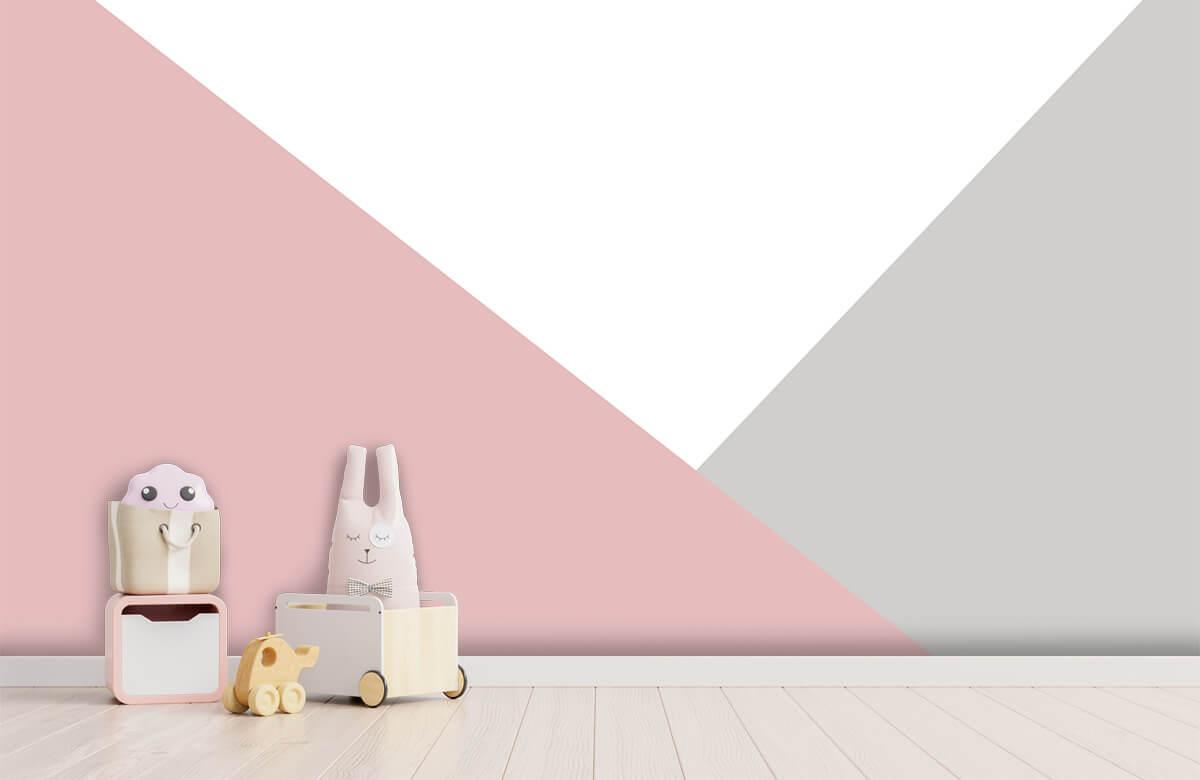 Hip & Trendy Roze en grijze driehoeken 4